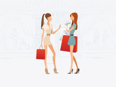 Ілюстрація для сайту брендового одягу